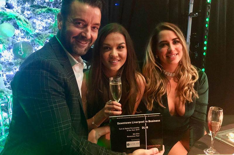 Nik Ellis wins Downtown in Liverpool Tech & Digital Award | Revolution Four
