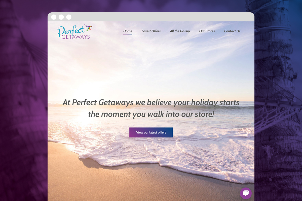 perfect getaways website design