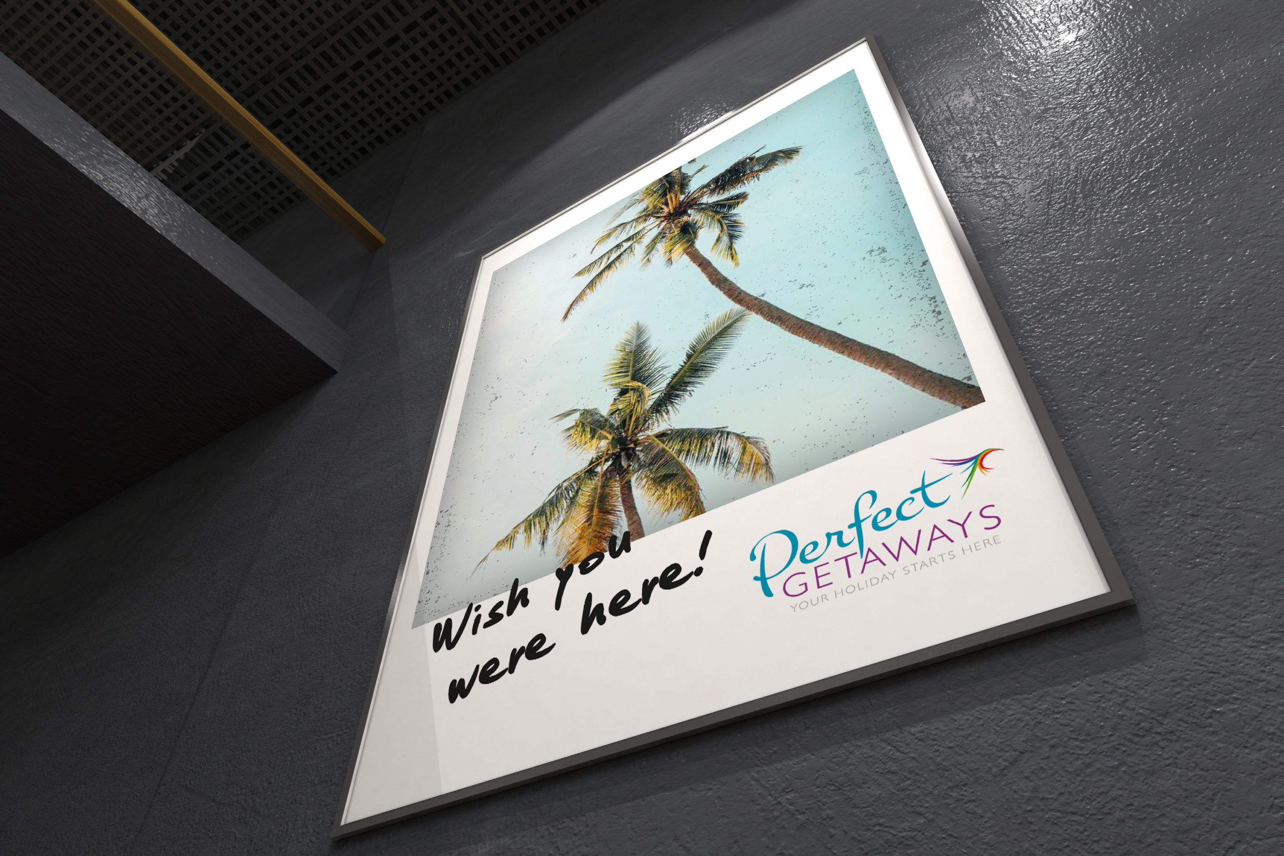 perfect getaways graphic design