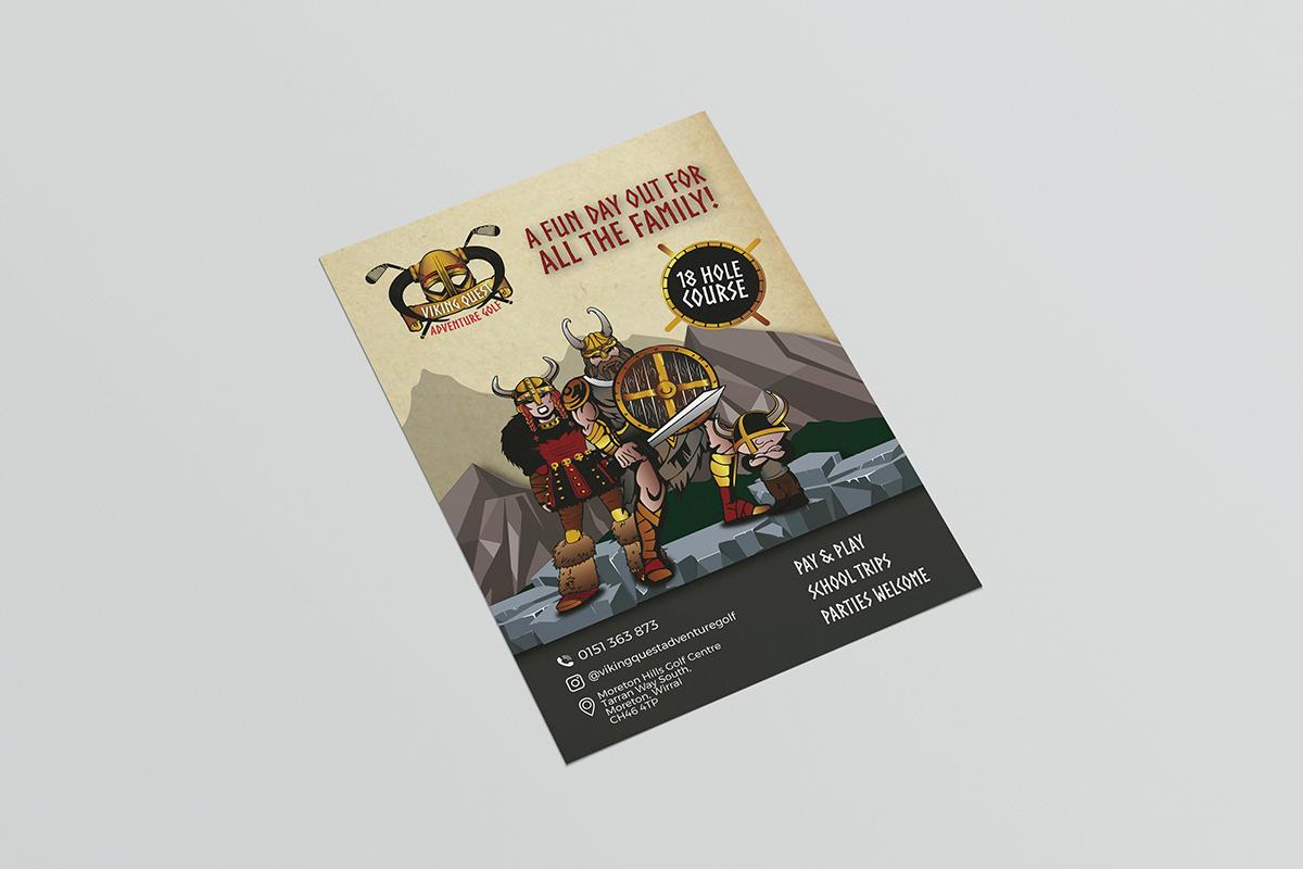 viking quest adventure golf graphic design