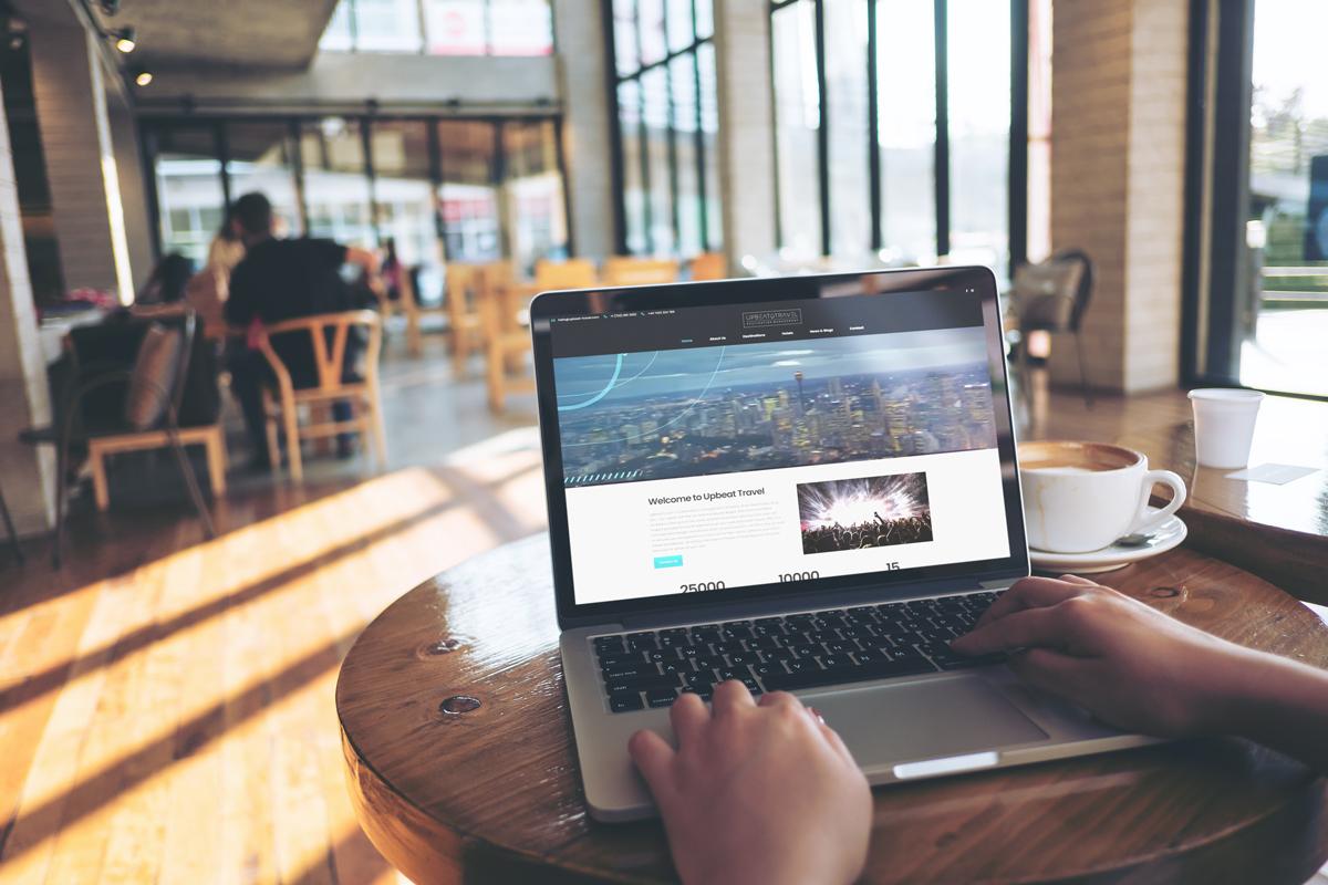 upbeat travel las vegas website design designer development developer