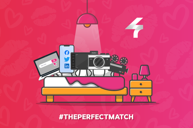 perfect match valentines day website web design graphic graphics social media management content services marketing animation photography